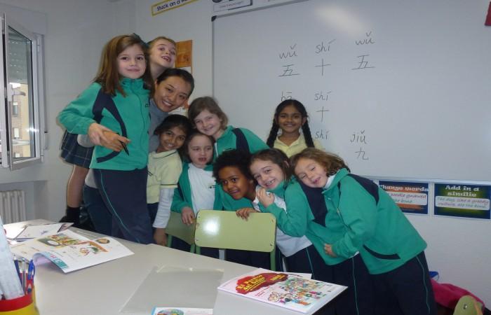 Clase de Chino Mandarín en Colegio Britanico para alumnos de Primary